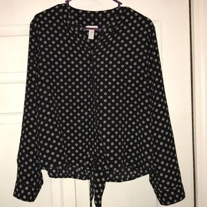 Chico's Tie-Front Blouse